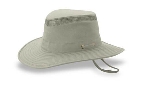 Tilley T5MO Organic Cotton Airflo Hat, Khaki With Olive Underbrim, 7 5/8