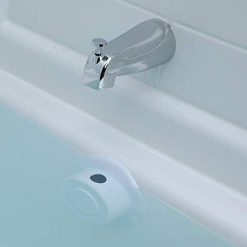 of grooming tubs dec 2021 theres one clear winner SlipX Solutions Bottomless Bath Overflow Drain Cover for Tubs, Adds Inches of Water to Your Bathtub for a Warmer, Deeper Bath (White, 4 inch Diameter)
