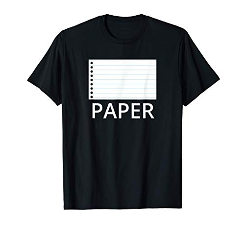 Disfraz de papel de roca tijeras simple de Halloween Camiseta