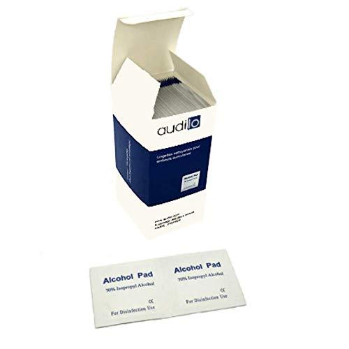 Panno pulisci audilo per apparecchi acustici   Confezione da 100 salviette disinfettanti e antibatteriche