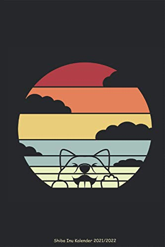 Shiba Inu Kalender 2021 2022 - Retro Wolken Silhouette: japanische Hunderasse Japan bräunlich Shibainu Planer Wochenplaner Jahreskalender Terminplaner Terminkalender DIN A5 120 Seiten Geschenk