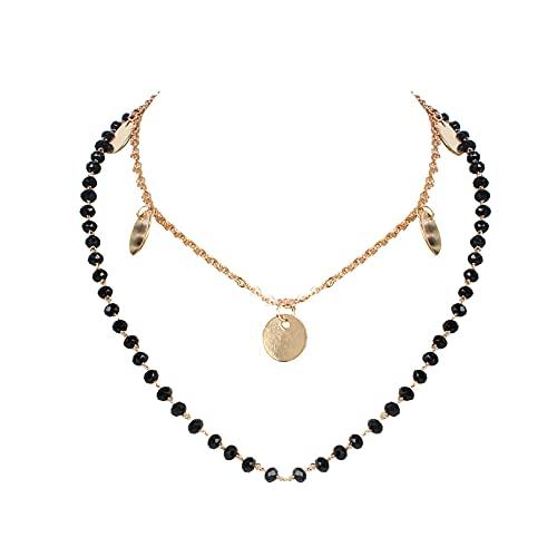 Halskette für Frauen Legierung Vintage Chunky Kette Münze Anhänger Punk Schlüsselbein Halskette