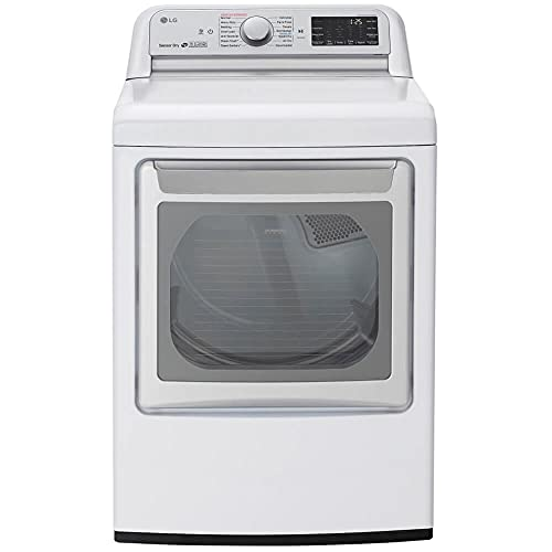 LG White Gas Dryer With TurboSteam