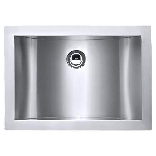 Ruvati 18' x 12' Brushed Stainless Steel Rectangular Bathroom Sink Undermount - RVH6110