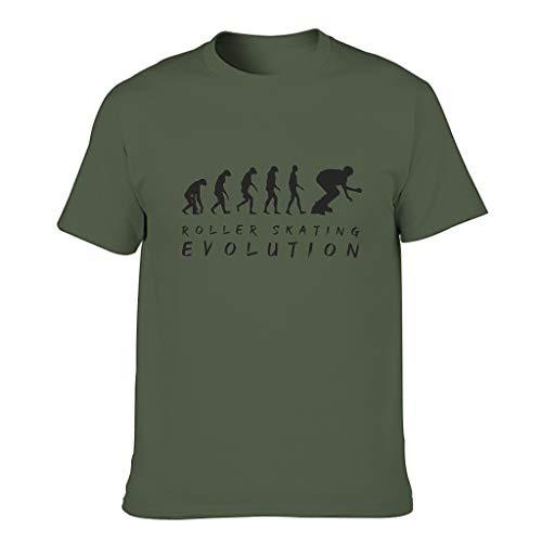 Herren Rollschuh Evolution Baumwolle T-Shirt - Vintage Out Kleidung Army Green l