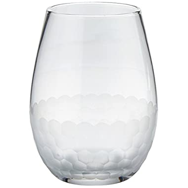 Fitz and Floyd Daphne Stemless Goblet, Set of 4, Clear