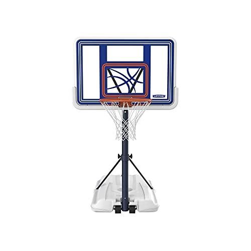 Lifetime 1306 Pool Side Height-Adjustable Portable Basketball System with 44-Inch Clear Acrylic Backboard