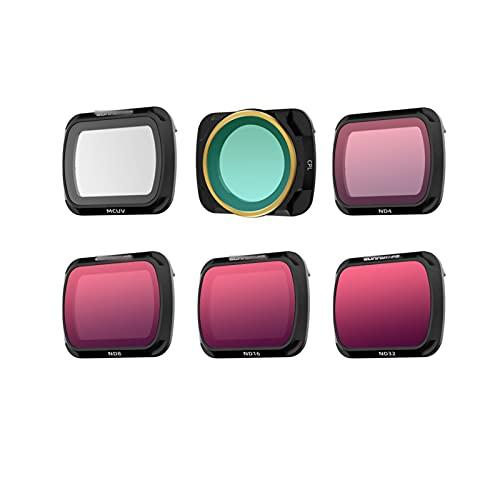 Lijincheng Accessori Drone Filtro Fatto per DJI Mavic Air 2 filtri Densità Neutra Polar per DJI Mavic AIR2 Accessori per Fotocamera UV CPL ND NDPL4 / 8/16/32 (Color : 6in1 Mix)
