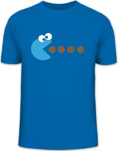 Shirtstreet24, Blue Monster, Herren T-Shirt Fun Shirt Funshirt, Größe: XXL,royal blau