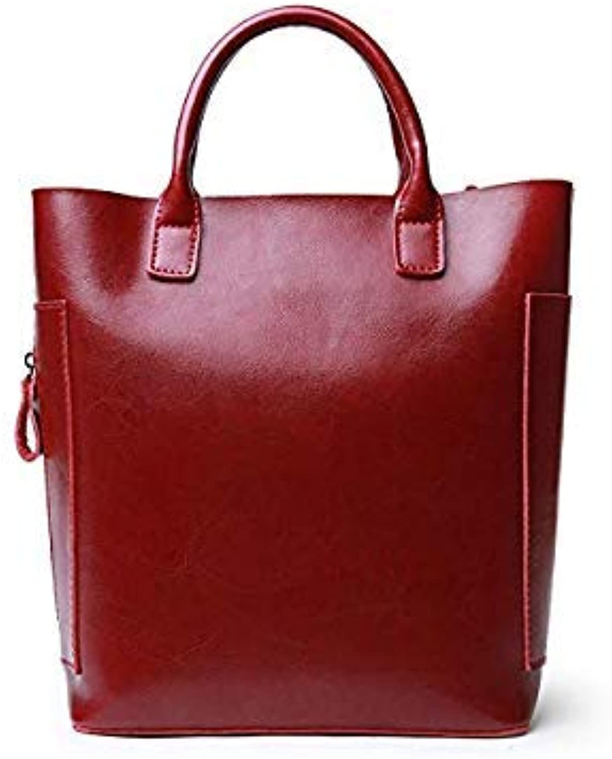 Bloomerang QIAOBAO Genuine Leather Handbag Tote Over Shoulder Crossbody Autumn Winter Leather Famous Brand Casual Designer Female Bolsas color Burgundy 31x12x28CM