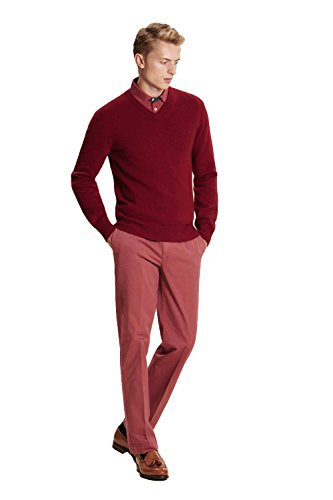 Hackett London Sanderson TLRD Chino Pantalones, Rosa (Dusty Berry 3BG), 34W / 32L para Hombre
