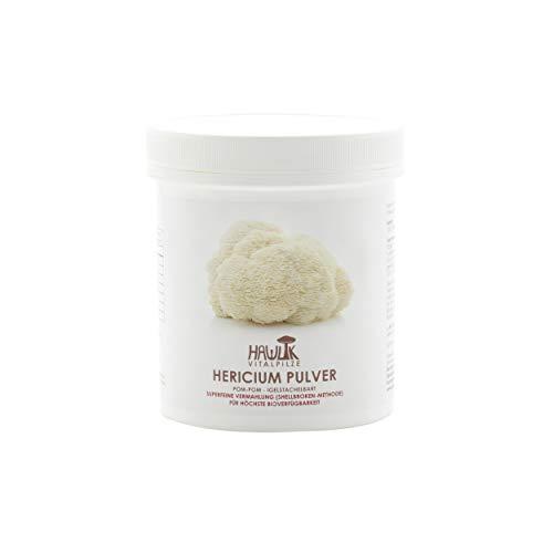 Hawlik Vitalpilze - Hericium Vitalpilz Pulver - 100 Gramm - GMP Qualität - Shellbroken Verfahren
