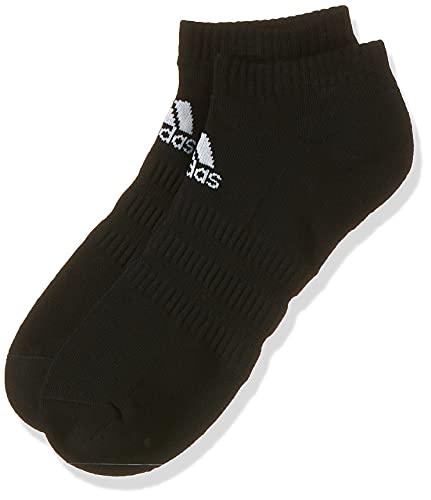 Adidas CUSH LOW 3PP Socks, Unisex Adulto, Black/Black/Black, M