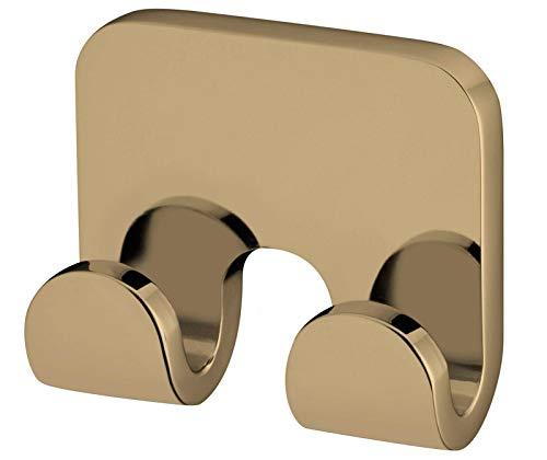 Pequeña Double Colgador Toallas Baño Montado Pared Zamak Acabado Color Oro
