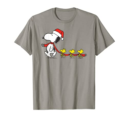 Peanuts Snoopy and Woodstock Yuletide Holiday T-shirt for Adults, Kids