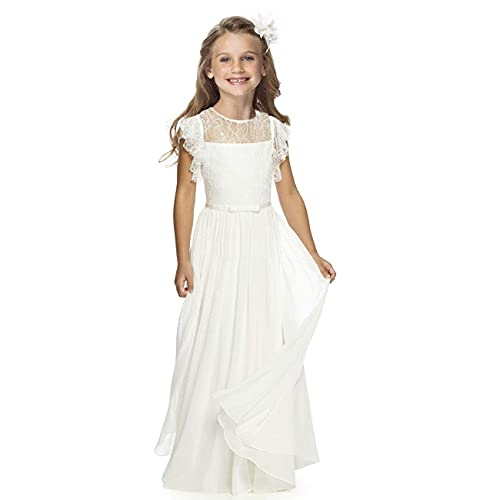 Fancy Girls Holy Communion Dresses 1-12 Year Old Off White Size 8