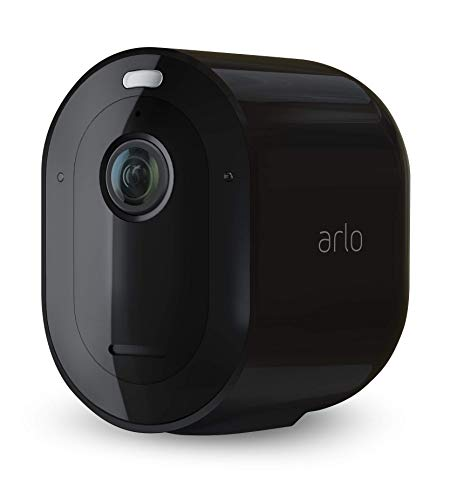 Arlo Pro3 Smart Home Security Cameras | Alarm | Rechargeable | Colour Night Vision | Indoor/Outdoor | 2K QHD | 2-Way Audio | Spotlight | Add on Camera - SmartHub Needed | VMC4040B - Black Edition