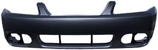 CarPartsDepot, Front Bumper Cover Primed Plastic Unpainted, 352-18579-10-PM FO1000533 2R3Z17D957BA