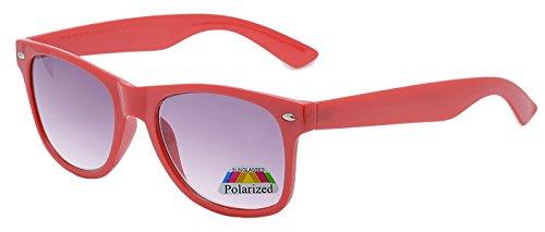 Gepolariseerde Kinderen Klassieke Stijl Zonnebril in Blauw Rood Turkoois Wit Zwart multi kleur en UV400 Classic 4sold