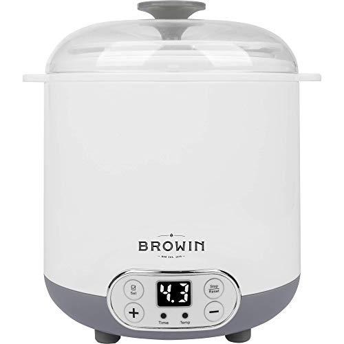 Browin 801013 Multifunktionales Gerät Käse und Joghurt mit 1,5 L Thermostat, weiß, grau, Mittler