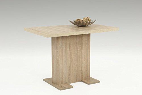 Eternity-Möbel Esstisch Säulentisch Bugsy Tisch 110-150 x 69 x 76 cm in Sonoma Eiche
