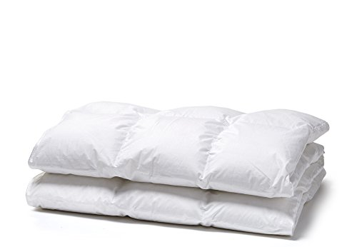 White Cloudz - Relleno nórdico Graz Verano - edredón Natural de 90% plumón Duvet Europeo - Tejido Exterior 100% algodón percal - Lavable 60°C - 200 x 220 cm