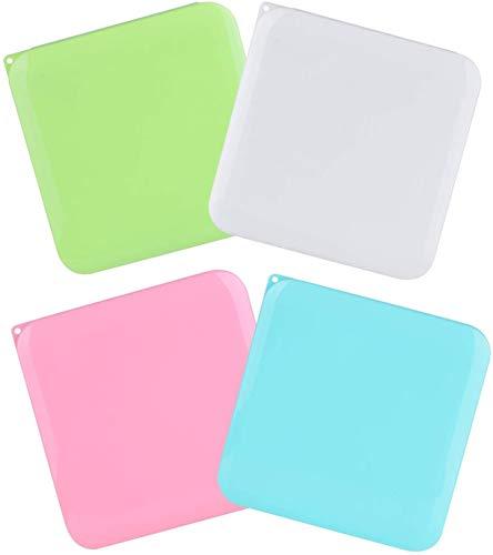 HIQE-FL 4 Stück Reinigungsbox,Speicherclips Organizer,Flache Kunststoffbox,Aufbewahrungstasche Klein,Aufbewahrungsbox Tragbare