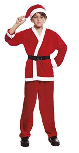 H HANSEL HOME Disfraz Papa Noel Infantil - Niño Vestido para Cosplay/Navidad Size 9-13 años