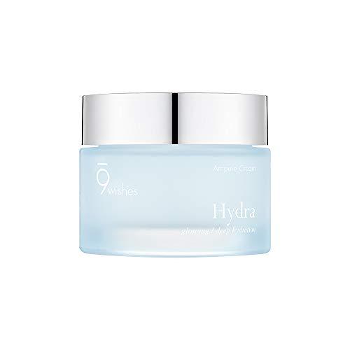 [9wishes] Hydra Ampule Facial Cream 50ml 1.7 Fl. Oz - Powerful Hydration Facial Gel Type Cream - Hypoallergenic Moisturizer