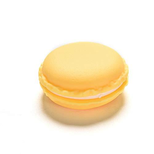 Colorful Mini Macaron Shape Storage Box Medicine Tablet Dispenser Pill Case Container Candy Jewelry Organizer,1.57x1.57x0.78''(Yellow)