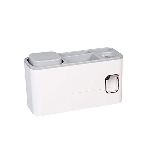 YAzNdom tandenborstelhouder, wand- en automatische tandpastadispenser, ruimtebesparend tandenborstel, organizer voor de wasruimte in de badkamer, geschikt voor de badkamer