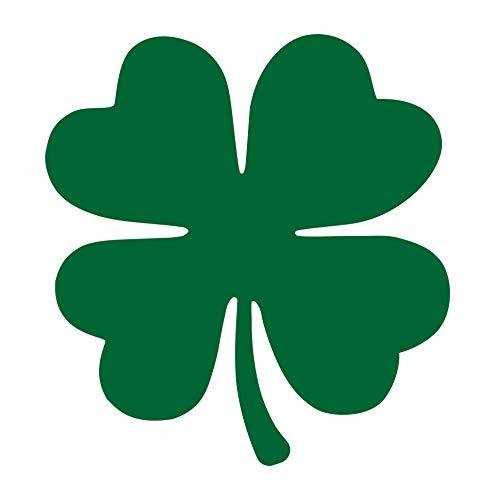 Sunset Graphics & Decals Shamrock Decal Vinyl Car Sticker Irish 4 Leaf Clover | Cars Trucks Vans Walls Laptop | Green | 5 x 4.75 inches | SGD000007