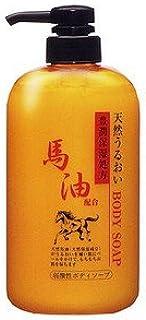 ジュン?コスメティック馬油 ボディソープ 600ml 弱酸性ソープ 無色素 ミルキーグリーンの香り×18点セット (4964653102800)