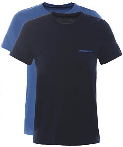 Armani Jeans Armani 2 Pack Crew Neck T-Shirt Navy Blauw & Blauw XXL