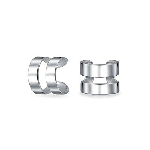 Unisex Minimalistische Band Knorpel Ohr Manschette Ohrstulpe Ohrringe Wickeln Nicht Durchbohrt Für Jugendlich Silber