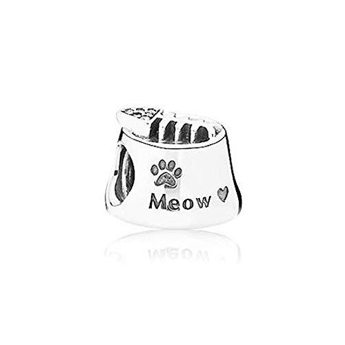 shangwang 925 Sterling Silver Pendant Dog Claw Schnauzer Beaded For Original Pandora Pendant Bracelet Necklace Diy Jewelry B277