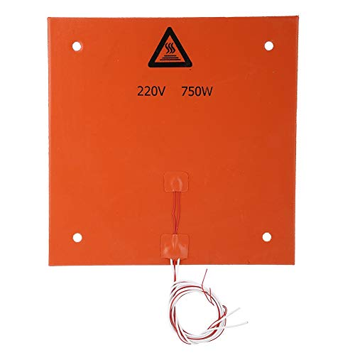 BTIHCEUOT 3D-Druckerteile und Zubehör, Silikon-Heizmatten-Heizbettauflage(220v 750w 310 * 310mm)