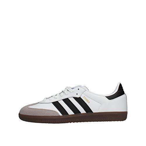 Adidas Samba OG, Zapatillas de Gimnasia para Hombre, Blanco (Footwear White/Core Black/Clear Granite 0), 43 1/3 EU