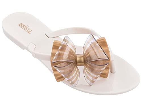 COQUI flip Flop Men,Gelee Schuhe gestreifte Bogen Sandalen Hausschuhe Flacher Boden menschlich fehlerhafter Strandschuhe römische Schuhe Masern Sandalen weiblich-39_Reisweiß.