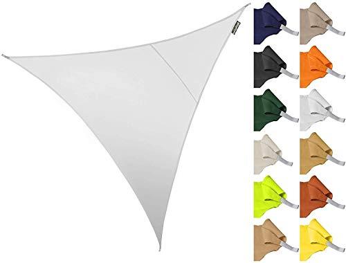 Waterdicht op zwaar werk berekend zeildoek 3 * 3 * 3m Driehoek Tuinterras Zonnescherm Zeilluifel 96.5% Antibeschermende doek (wit) voor autotuin Dak Camouflagetent (kleur: oranje)