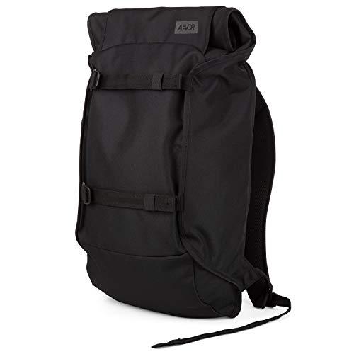 AEVOR Trip Pack - erweiterbarer Rucksack, ergonomisch, Laptopfach, wasserabweisend - Black Eclipse - Black