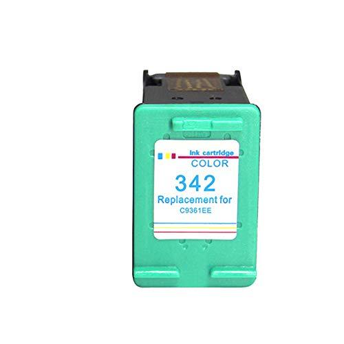 Cartuchos de tinta 336xl 342xl, cartucho de reemplazo para HP Deskjet 5420V 5432 5440 5442 Cartuchos de impresora de tinta compatibles con cuatro colores de cuatro c Color