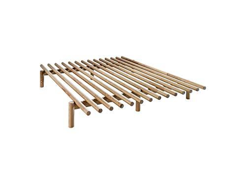 KARUP Kommune Frieden Bed Bett, Holz, natürliches Kiefernholz, 200x 140x 28cm