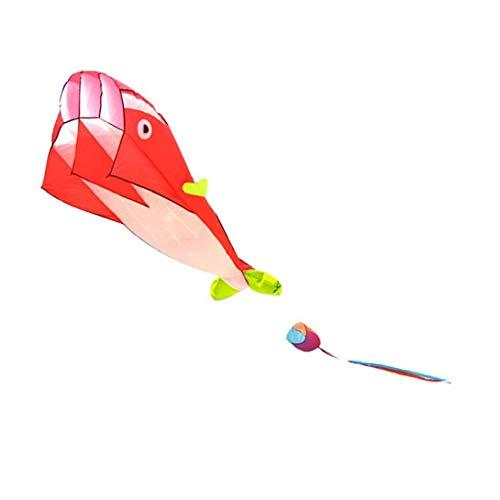 Wal Kite Tuch Frameless Long Tail Drachen Outdoor Games Drachen Fliegen Tierwiederverwendbare Kites Kinder Spielzeug Red