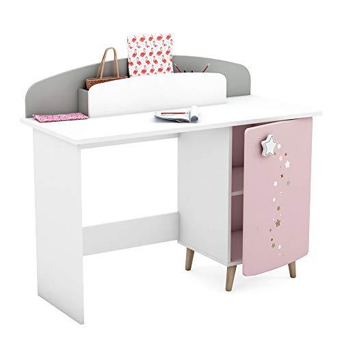 habeig Kinder Schreibtisch Himmelssterne #444 Kindertisch Tisch Prinzessin Spiegel Tür Schminktisch Kindermöbel