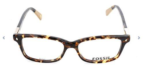 Fossil Brillengestelle FOS 6047 Rechteckig Brillengestelle 50, Mehrfarbig