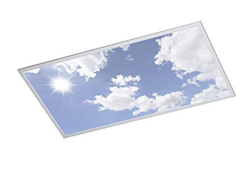 WOFI A LED Deckenleuchte Metall 50 W Integriert 600 x 55 x 1200 cm, Silber 9693.01.70.6200