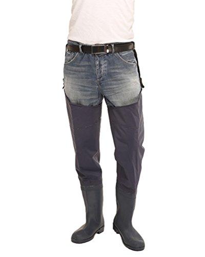 baratos y buenos Pantalones de pesca para hombre Xinwcang Impermeables, ligeros, transpirables, botas altas … calidad