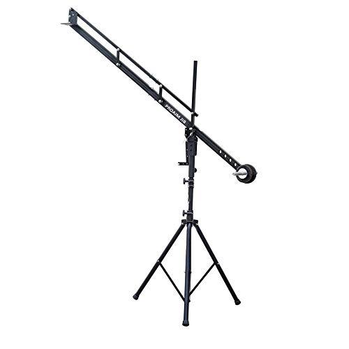 PROAIM 9ft Camera Crane Portable Jib, Jr. Pan Tilt Head, Tripod Stand P-9-JS-JR for DSLR Video Cameras up to 8kg/17.6lbs | Best Travel-Friendly Jib with Carrying Bag
