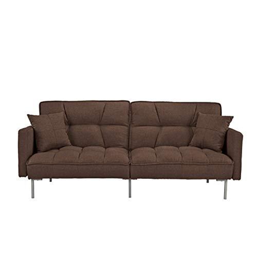 Canapé droit Marron Tissu Pas cher Moderne Confort